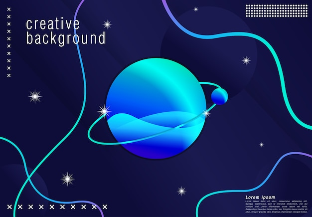 Futuristic background design . in blue shape with trendy gradients