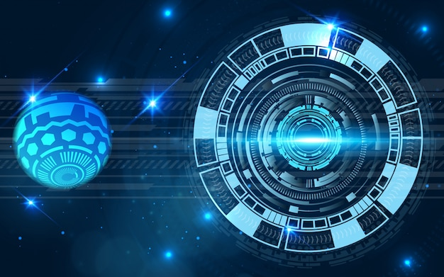 Futuristic background digital technology