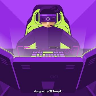컴퓨터 게이머의 미래 배경