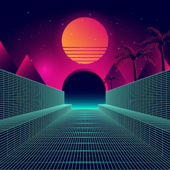 Futuristic background vector