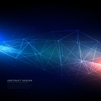 Futuristic background with dots and lines
