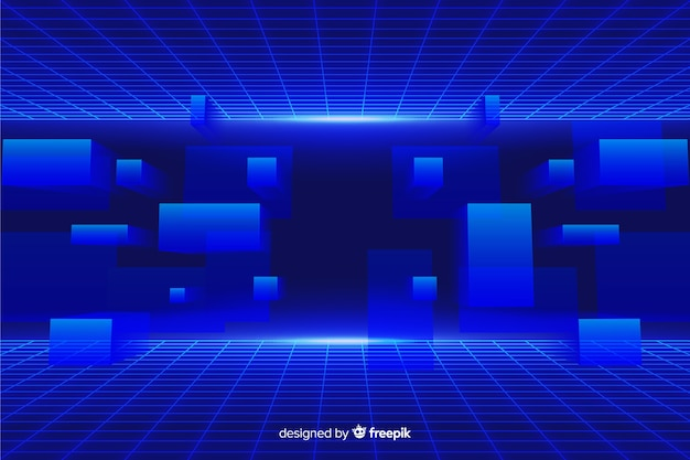Футуристический фон с геометрическими фигурами