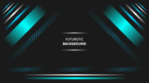 Futuristic background with glowing blue white modern techno shapes