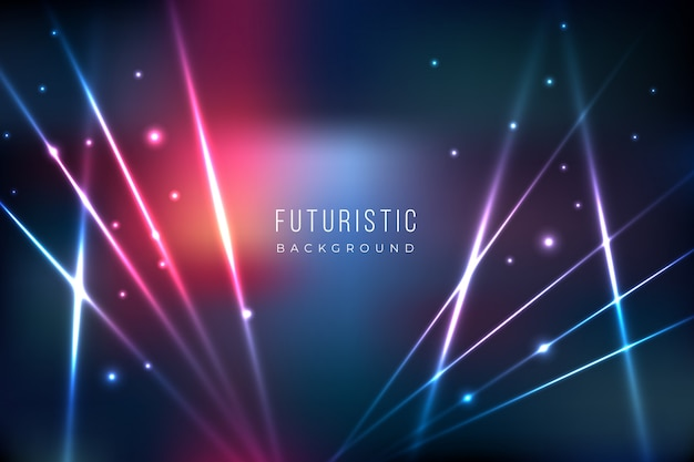 Futuristic background with lights effect