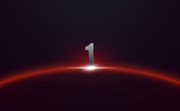 Futuristic background with number one