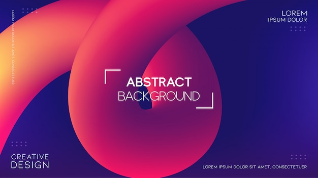 Futuristic background with soft gradient and 3d fluid shapes