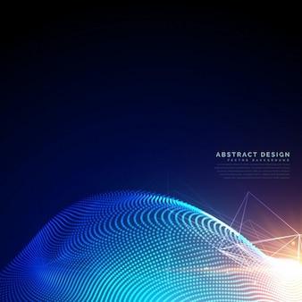 デジタルsyberまたは技術スタイルで粒子の背景