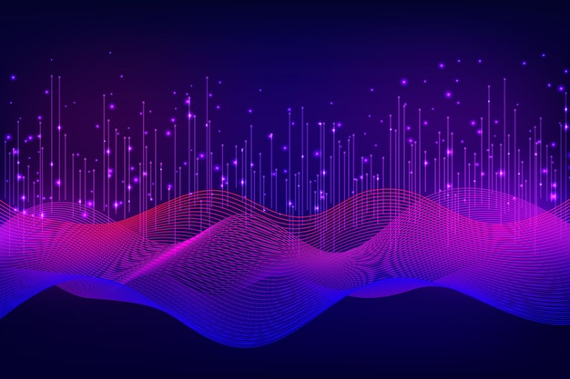 Futuristic background with wavy shapes