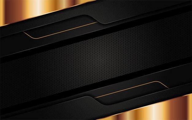 미래의 검은 추상 배경 디자인. 그래픽 디자인 요소.