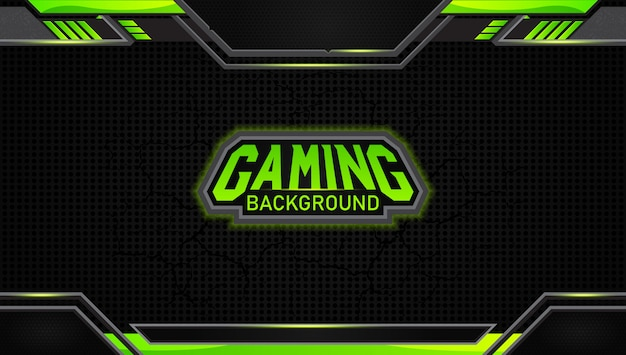Futuristic black and green gaming background