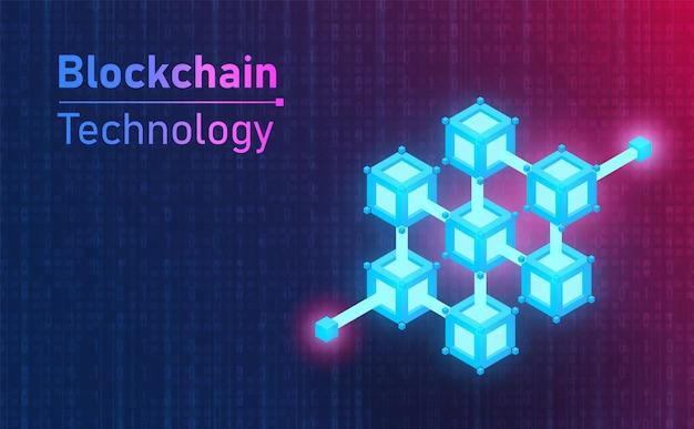 미래의 blockchain 기술 연결 아이콘입니다. 미래 concept.vector 및 그림