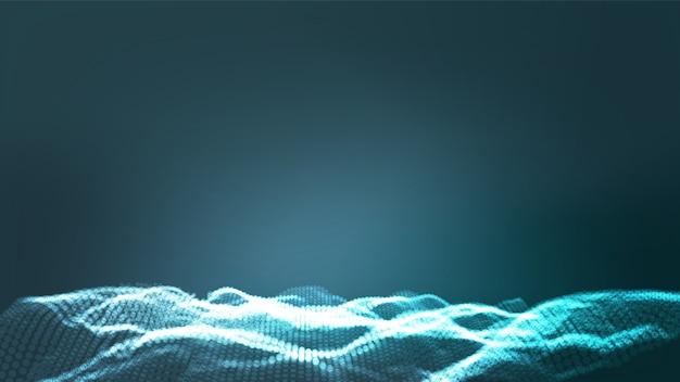 Futuristic blue backrgound