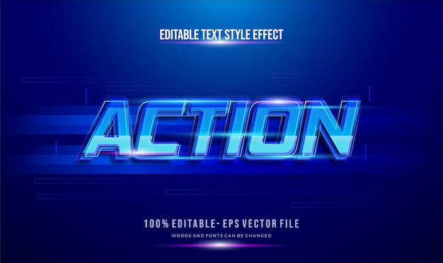 Futuristic blue color text motion theme. modern editable text style effect.