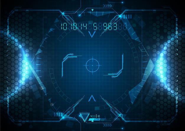 Futuristic blue light technology digital data