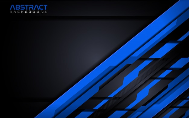 Futuristic blue modern tech abstract background design template.
