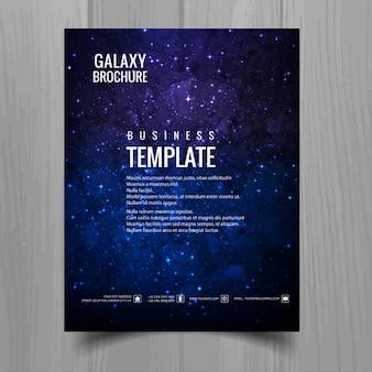 Futuristic brochure template about galaxy