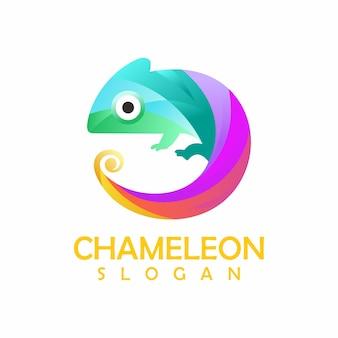Futuristic chameleon vector design