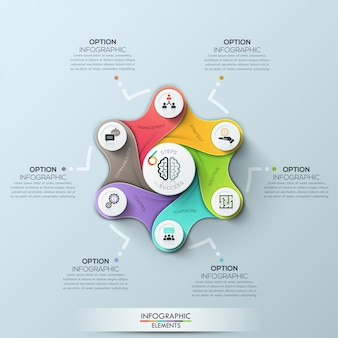Futuristic circle business template. vector illustration