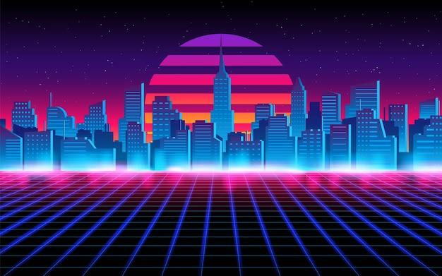 未来的な街並みの抽象。未来のテーマコンセプトの背景。