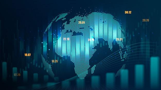 Futuristic concept of global