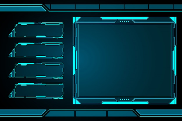 Futuristic control panel