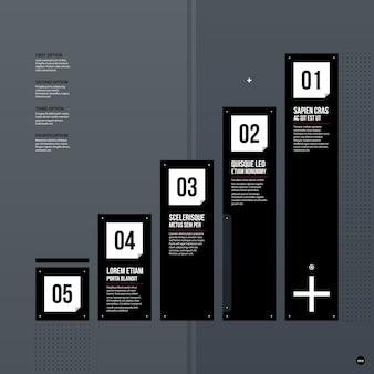 Футуристический шаблон корпоративной диаграммы на сером фоне. полезно для презентаций и маркетинговых сми.