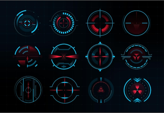 Futuristic crosshair and modern aiming system