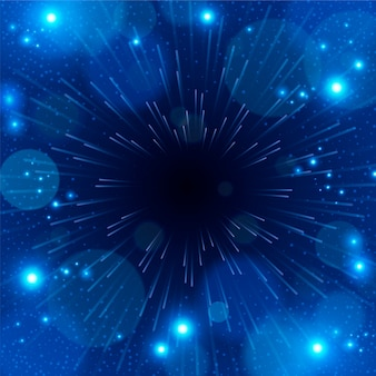 빛과 움직임으로 미래의 사이버 배경