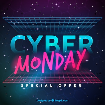 Futuristic cyber monday design