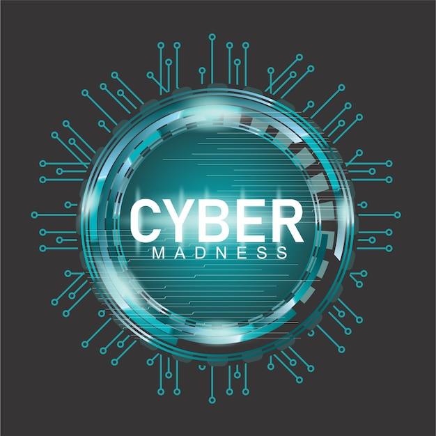 Futuristic cyber