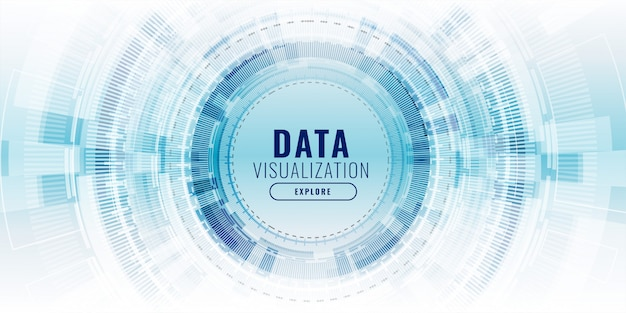 Futuristic data visualization technology concept banner