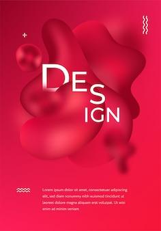未来的なデザイン。抽象拡散色の流体スポットの背景。テンプレートミニマリストポスター