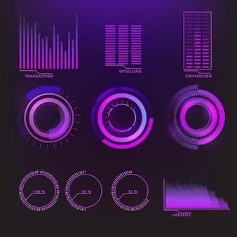 インフォグラフィックの未来的なデザイン