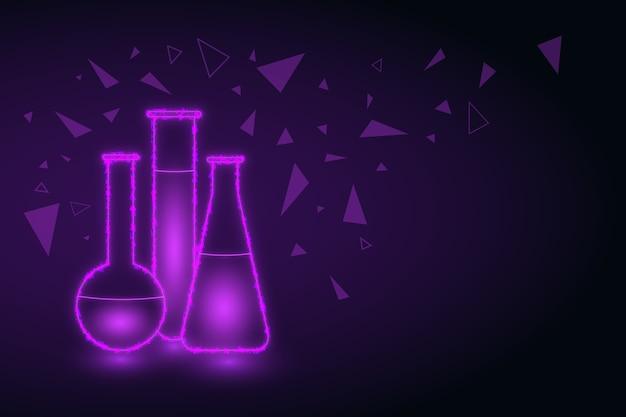 Futuristic design science lab background