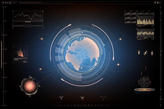 Futuristic design screen