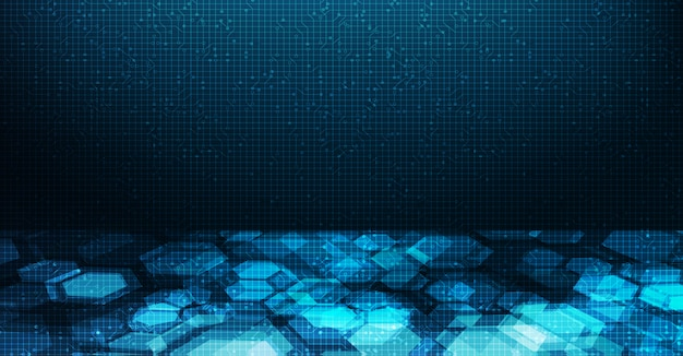 Futuristic digital circuit network background