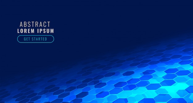 Futuristic digital hexagonal tech in perspective style background
