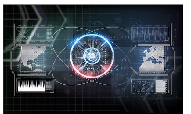 未来的なデジタル技術の概念