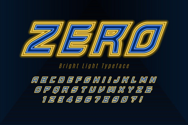 미래의 동적 알파벳, 여분의 빛나는 글꼴.