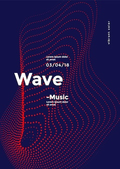 Футуристический динамический образец точек волны.