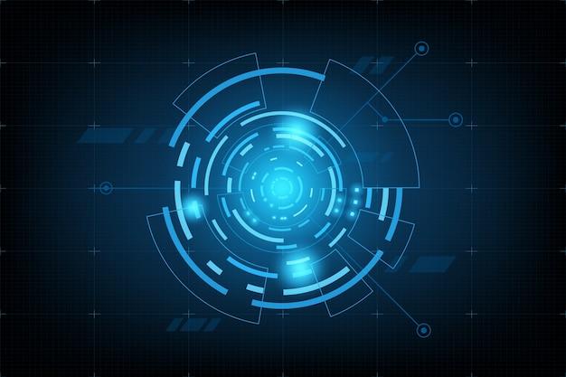 미래 요소 패널. 세계지도 데이터 분석 정보