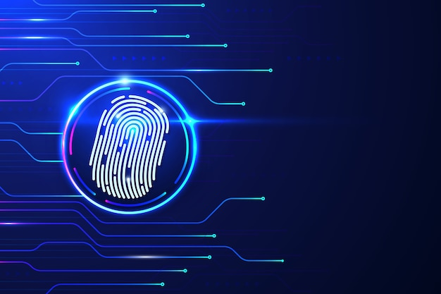 Futuristic fingerprint background