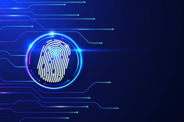 Sfondo futuristico di impronte digitali