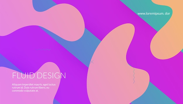 미래 지향적인 전단지. 기술 그라데이션 배경입니다. 물결 모양의 방문 페이지. 트렌디한 프레임. 퍼플 모바일 커버. 가로 그림입니다. 추상 패턴입니다. 최소한의 포스터. 보라색 미래 전단지