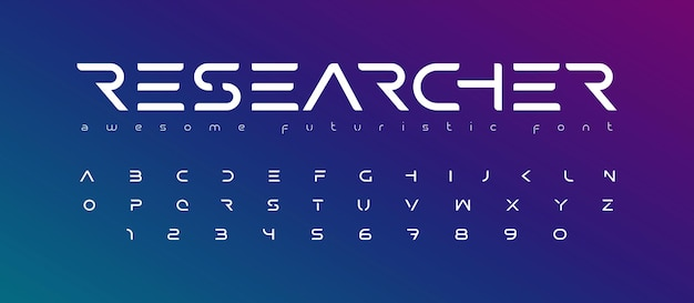 未来的なフォントアルファベット文字未来のロゴタイポグラフィクリエイティブミニマリストタイポグラフィデザイン