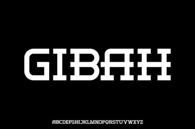 Futuristic font alphabet vector set