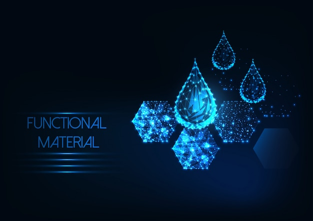Futuristic functional material background