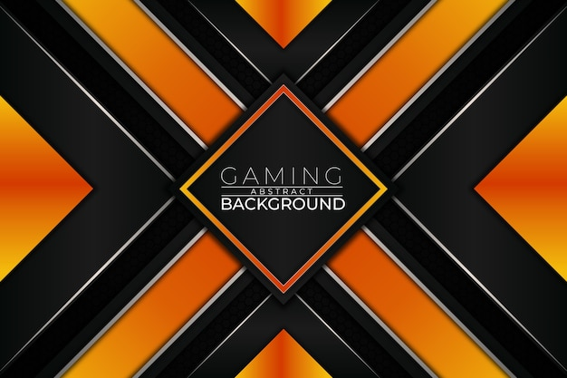 Futuristic gaming background orange style