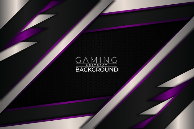 Futuristic gaming background purple style