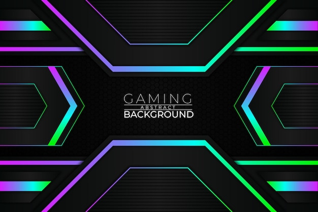 未来的なゲームの背景rgbスタイル
